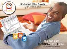 Work from home, get offline projects and earn by working from home. For more visit http://www.ntsinfotechindia.com/