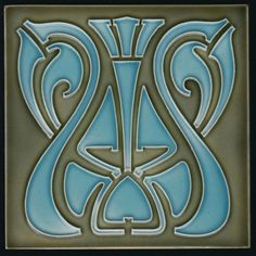 Jugendstil Fliese Tonindustrie Offstein Art Nouveau tile C1900