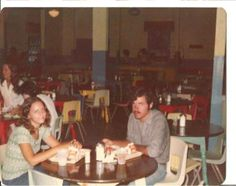 1970 view of Cafeteria at Fort Caswell    North Carolina