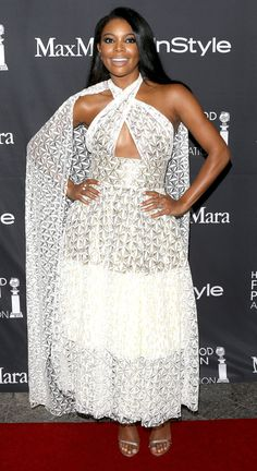 TIFF 2016 Best Dressed on the Red Carpet - Gabrielle Union in a white cape dress