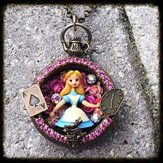 Vintage Pocket Watch Alice in Wonderland by glamourpusscouture, #aliceinwonderland