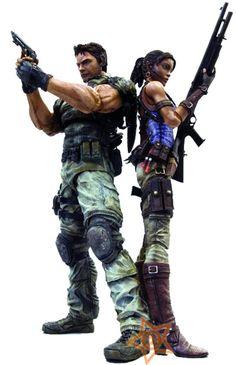 Resident Evil 5 Play Arts Kai Action Figures