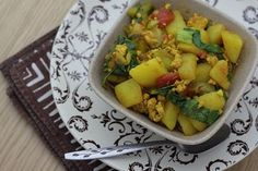 Curried potatoes - from @simplycooked