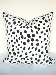 THROW PILLOWS BLACK 12x16 Decorative Throw Pillow Covers 16x20 Lumbar Black Pillows Polka Dot pillow black Pillow Home and Living Home decor
