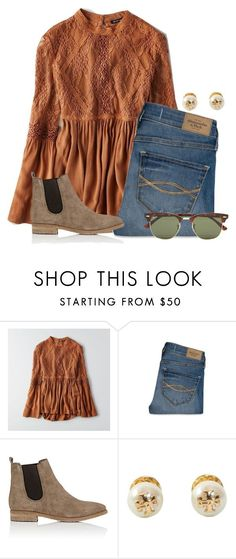 """Cute fall Boho:)"" by flroasburn ❤ liked on Polyvore featuring American Eagle Outfitters, Abercrombie & Fitch, Barneys New York, Tory Burch and Ray-Ban"