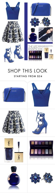 """""""Sans titre #356"""" by giirly1994 ❤ liked on Polyvore featuring Michael Kors, Miss Selfridge, Chicwish, Windsor Smith, Yves Saint Laurent, By Terry, Lacoste and Nina"""