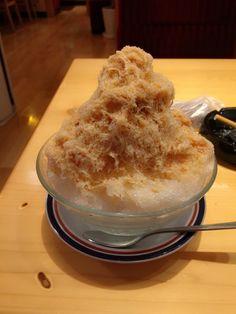 snow ice beating the heat this summer #caramel+milk