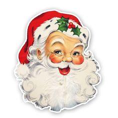 Vintage Santa die cut
