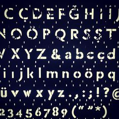 Students at Istanbul Technical University started from serif typeface by Robert Slimbach