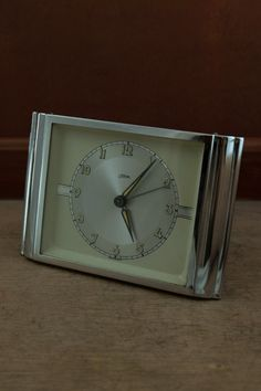 Vintage chrome steel alarm clock c. Alarm Clock, Chrome, Steel, Etsy, Vintage, Accessories, Projection Alarm Clock, Alarm Clocks, Steel Grades