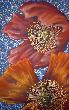 Poppies on Blue by Cherie Roe Dirksen (www.cherieroedirksen.com)