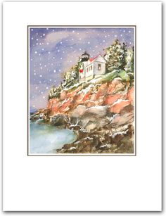 Items similar to Bass harbor head Lighthouse Christmas cards, Maine lighthouse. 10 per box. on Etsy – Christmas DIY Holiday Cards Diy Holiday Cards, Unique Christmas Cards, Nautical Christmas, Printable Christmas Cards, Homemade Christmas Cards, Funny Christmas Cards, Etsy Christmas, Christmas Humor, Maine Lighthouses