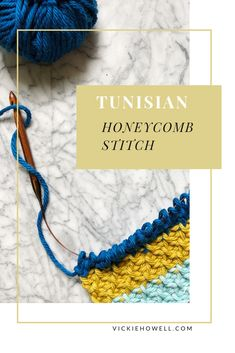 Learn how to create the Tunisian Honeycomb Stitch with DIY expert Vickie Howell