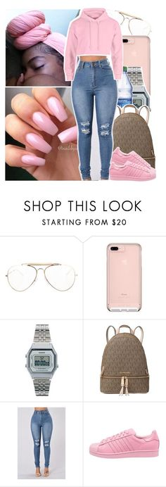 """1-800-HOTLINEBLING"" by desirenelle ❤ liked on Polyvore featuring interior, interiors, interior design, home, home decor, interior decorating, CÉLINE, Casio, Michael Kors and adidas Originals"