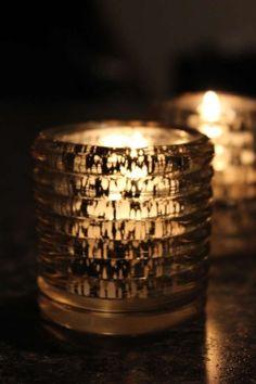 Weddings Mercury Glass Votive Holder | 50 Gold Mercury Glass Ribbed Votive Candle Holders