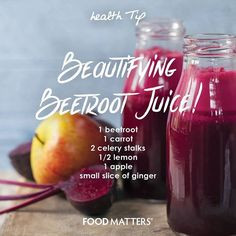 Beets are one magical veggie.. Immune boosting, anti-cancer properties, rich in minerals, blood pressure lowering (just to name a few!) We love juicing these babies, here's a simple recipe we like!  www.foodmatters.tv #foodmatters #FMdetox
