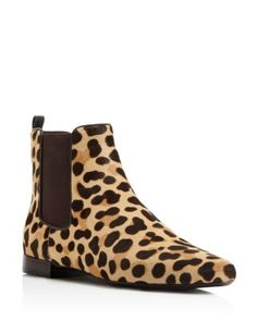 Tory Burch Orsay Leopard Print Calf Hair Chelsea Booties | Bloomingdale's