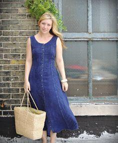 Bohemian Maxi Dress / Purple Dress /  Boho by littleedenvintage, $28.00
