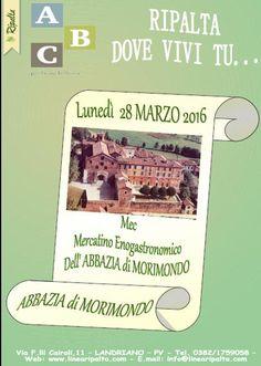 LUNEDI 28 MARZO RIPALTA DOVE VIVI TU...