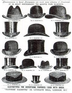 Men's millinery, 1880-1920