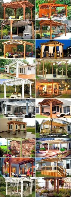 Attached Pergola Design – It is and many of us are thinking of new ways to make our homes a better place. pergula ideas Attached Pergola Design For Your Dream Home - Trumtin Diy Pergola, Wooden Pergola, Outdoor Pergola, Backyard Patio, Backyard Landscaping, Outdoor Spaces, Outdoor Living, Pergola Ideas, Cheap Pergola