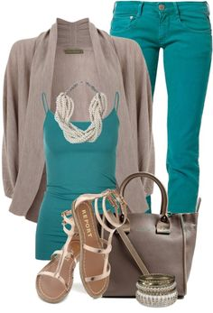 """Petrol Jeans"" by elenh2005 on Polyvore"