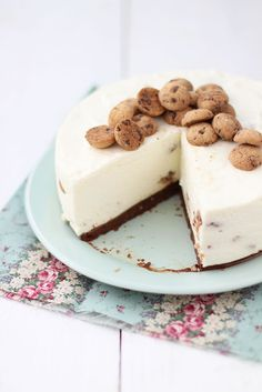 Raquel's Kitchen: Cheesecake con Galletas de Chips de Chocolate