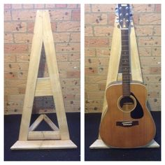 Pallet Guitar Stand #Acoustic, #DIY, #Guitar, #Pallet, #Stand