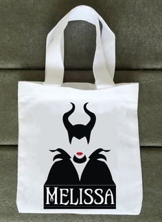 Maleficent Trick or Treat Bags  Halloween  by LabelMyBaby on eBay