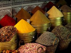 Moroccan spice market - you can almost smell those spices.