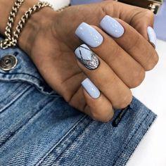 18 Uber-Cool Geometric Nail Art Designs Taking Everyone's Breath Away! 18 Uber-Cool Geometric Nail Art Designs Taking Everyone's Breath Away! Shellac Nails, My Nails, Nail Polish, Winter Nail Designs, Nail Art Designs, Vacation Nails, Geometric Nail Art, Nagel Gel, Blue Nails