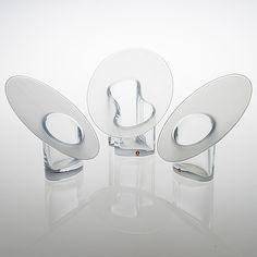 "TIMO SARPANEVA - Glass vases ""Marcel"" -series for Iittala, Finland. [h. 18,5-21 cm]"