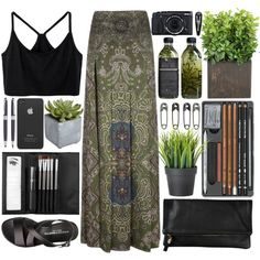 ✿ Dark Paradise ✿ by sophjh20 on Polyvore featuring мода, Othermix, Yves Saint Laurent, Clips, Sephora Collection, Pier 1 Imports, Wild & Wolf, Incase and Clare V.
