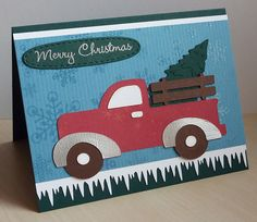 Truck from Just Because, Tree from Christmas/Noel