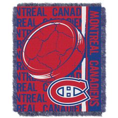 Stand out in the crowd with the Montreal Canadiens Tapestry Double Play Throw Blanket. Woven to perfection, this triple jacquard throw blanket allows for pure Montreal Canadiens colors. The large Hockey Puck centered on the blanket and overlays t. Nhl Logos, Double Play, Faux Fur Blanket, National Hockey League, Montreal Canadiens, Chicago Cubs Logo, Blankets, Bedding, Fan Gear