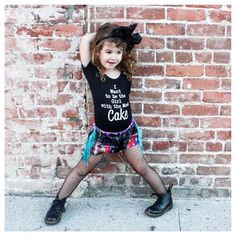 """Little Wonderland Clothing on Instagram: """"Of course my girl wanted to be fashionable... In some rocker fringe shorties @pandthelion + Our NEW Leo <I want to be the girl with the most cake> + fishnets + docs How we roll!!! <fancy> #littlewonderlandclothing #streetfashion #igbabies #kidslookbook #like4like #alternative #goodvibes #igkiddies #cuttingedgekids #toddlers #kidsfashion #instagood #ootd #potd #shopsmall #rocknroll #hipkids #music #fashionista #blog #style #cake #girls"""