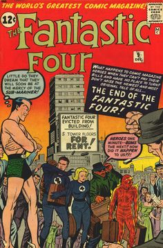 """Shit guys, we spent all our research funding on fighting super-crime"" and Namor's just like ""I'm so going to buy your building and jack up the rent"" Fantastic Four #9"
