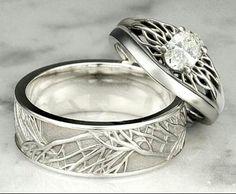 Rustic Mens Wedding Band Ring Nordic Runes Till Death Do We Part