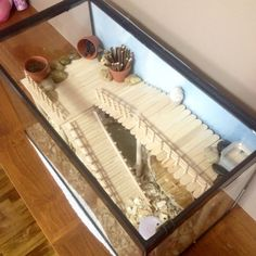 Sophie Little's hamster cage. DIY aquarium conversion.