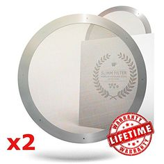 2 Premium Metal Filters for AeroPress – 2016 Edition, Ultra Slim, Ultra Fine. 2…