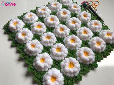 Çimenli Lif Modeli Yapılışı - Canım Anne Crochet Handbags, Crochet Flowers, Doilies, Piercings, Crochet Baby, Grass, Projects To Try, Kids Fashion, Blanket