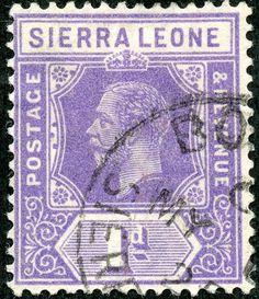"Sierra Leone  ""George V"", 1p violet,1923. Scott 123a, Wmk 4, Die I"