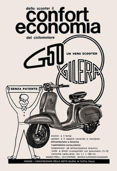 Gilera G50. Pubblicità degli anni '60. by supermolly, via Flickr