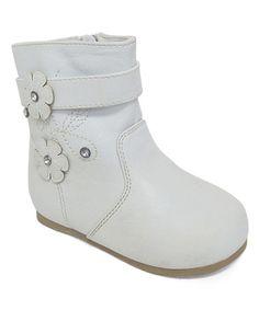 Loving this White Flower Boot on #zulily! #zulilyfinds