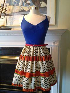Kente African Ankara  mini dress- knit Jersey and cotton dress. $55.00, via Etsy.