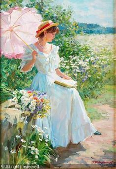 *Young Woman With a Book* ~ by Alexander Averin ♡♥