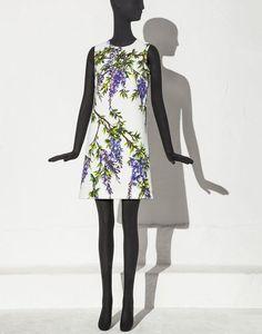 ABITO TRAPEZIO COTONE STAMPA GLICINE - Vestiti corti - Dolce&Gabbana - Estate 2015
