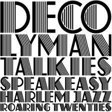 art deco font sample vyton