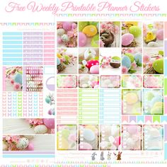 Happy Easter Printable Planner Stickers For The Erin Condren & Recollections Planner (Planner Onelove) - Happy Easter Printable Planner Stickers For The Erin Condren & Recollections Planner - Free Planner, Blog Planner, Erin Condren Life Planner, Happy Planner, Planner Ideas, Family Planner, Free Erin Condren, Summer Planner, Printable Planner Stickers