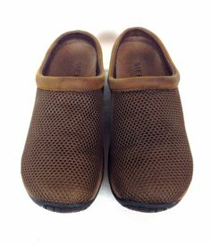 Merrell Shoes Brown Mesh Comfort Slip on Q Form Athletic Slides Leather 8 M | eBay